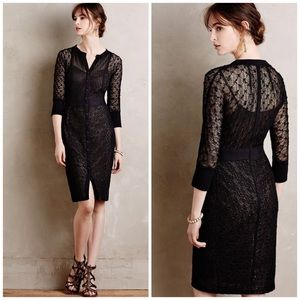 New Byron Lars Beguile Mona Black Lace Dress